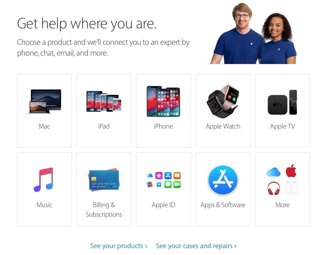 Apple Support - Contact Us